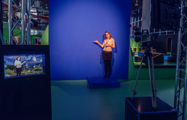 Try out being a weather presenter.